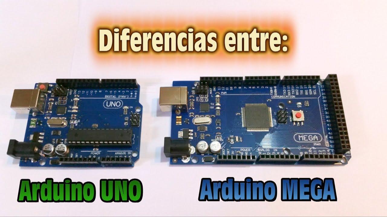 Diferencias entre arduino uno r y mega youtube