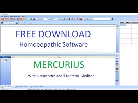 How to Download Free Homeopathic Software Mercurius