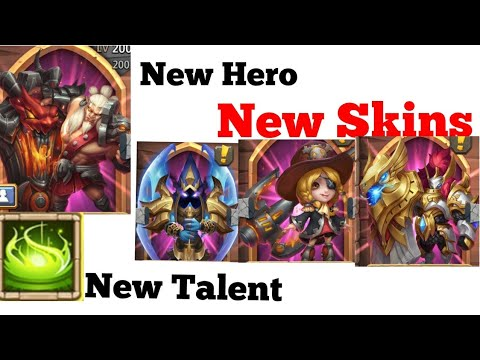 New Update, Skill 13, New Hero, New Skin, New Talent | Castle Clash