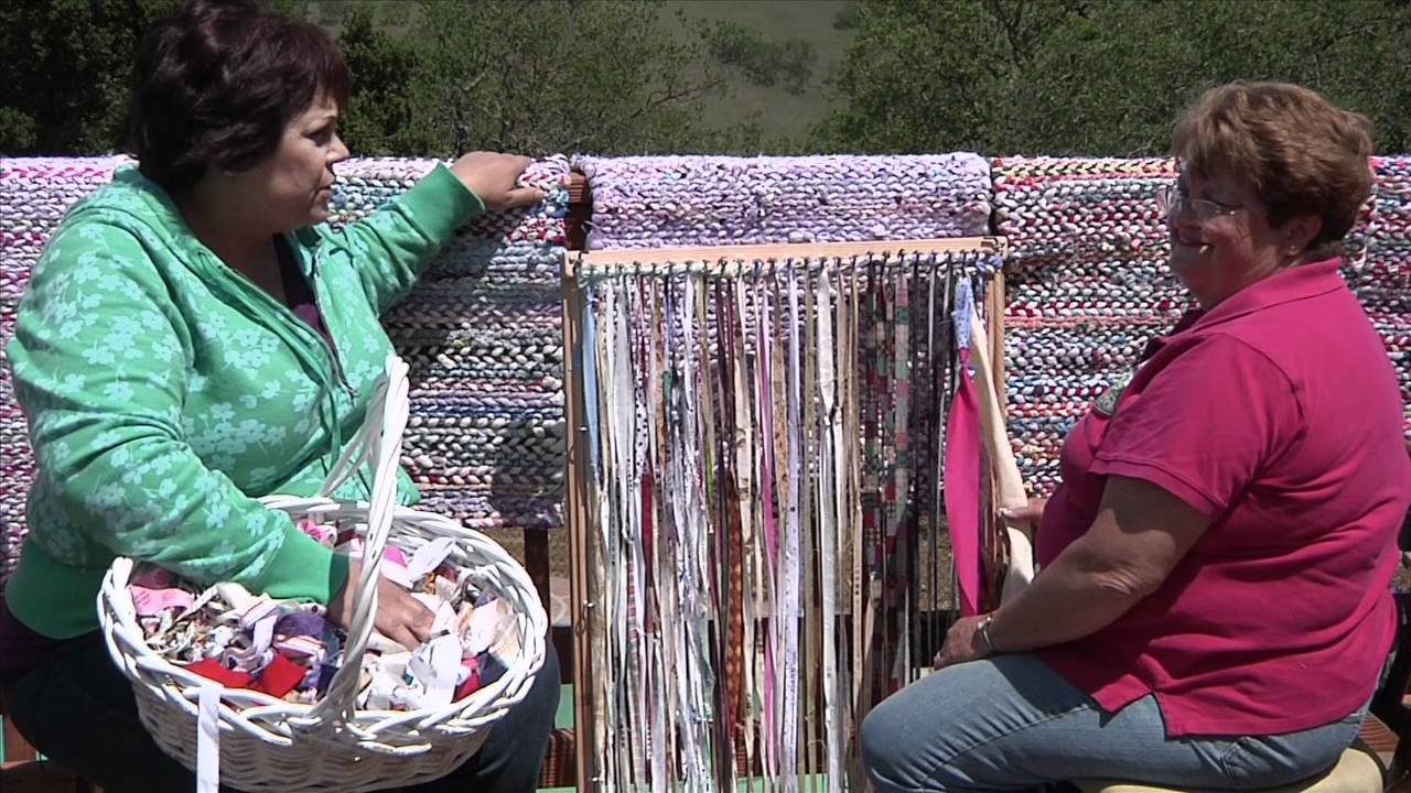 Rag Rug Weaving Youtube