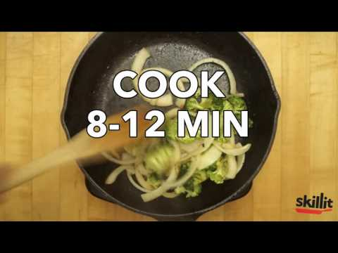 Lemony-Garlicky Chicken Stir-Fry with Onions & Broccoli | Skillit Cooking: Simple, Easy Recipes