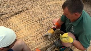 как сделать крышу из камыша своими руками