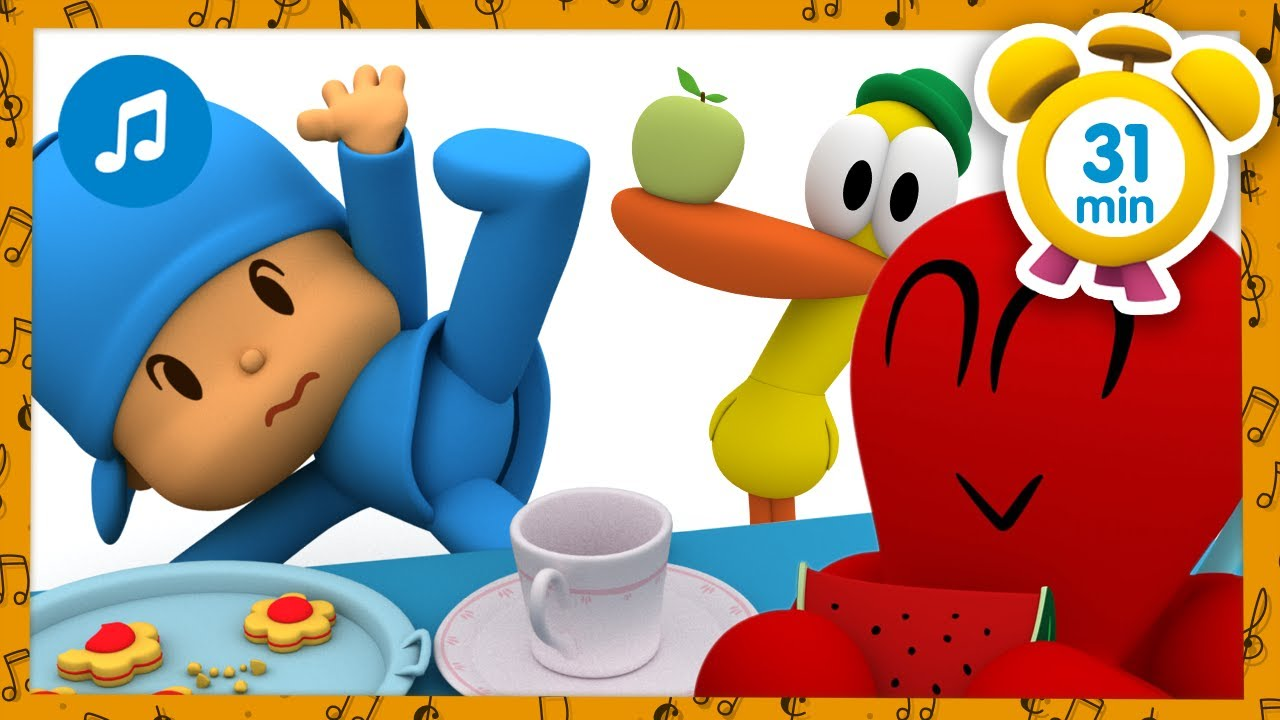 ☕️🎶 COMING FOR TEA 🎶 🍪  + Nursery Rhymes & Baby Songs [ 31 minutes ] - Pocoyo