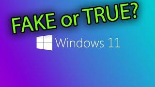 Release Windows 11 FAKE or TRUE?