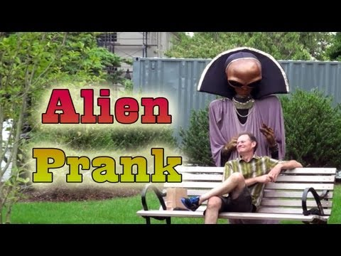 Alien Invasion Hidden Camera Practical Joke
