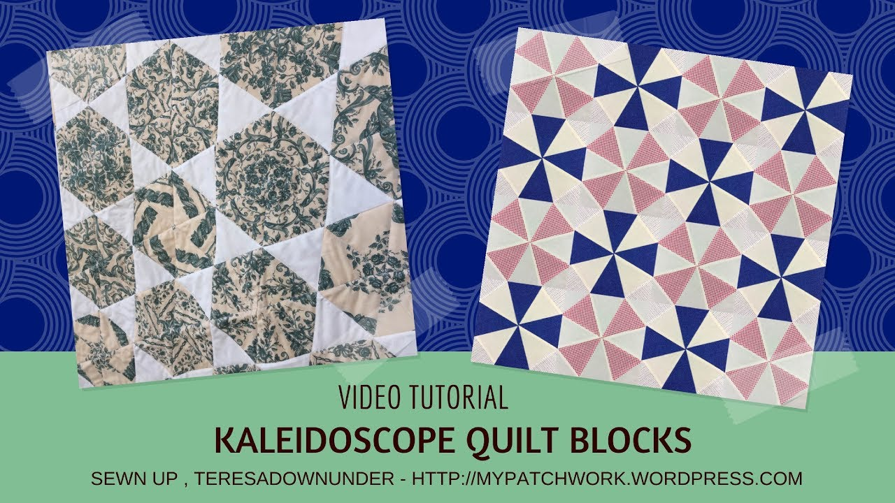Video tutorial: Kaleidoscope quilt blocks - YouTube : kaleidoscope quilt block - Adamdwight.com
