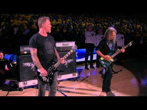 SHROOM - METALLICA's James & Kirk To Perform National Anthem Tonight At NBA Finals