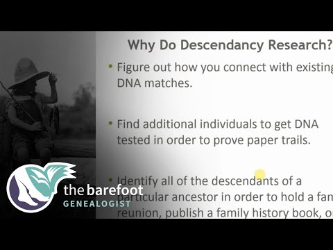 Post-1940 Descendancy Research