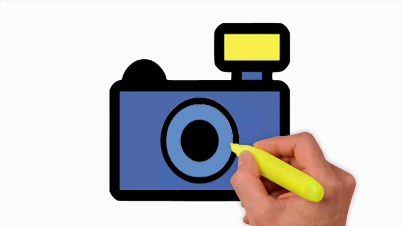 Coloring Pages-Camera Drawing Simple - how to draw a ...