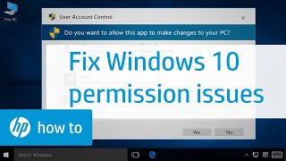 Resolving Permission Issues When Installing Software in Windows 10 | HP Computers | HP screenshot 1