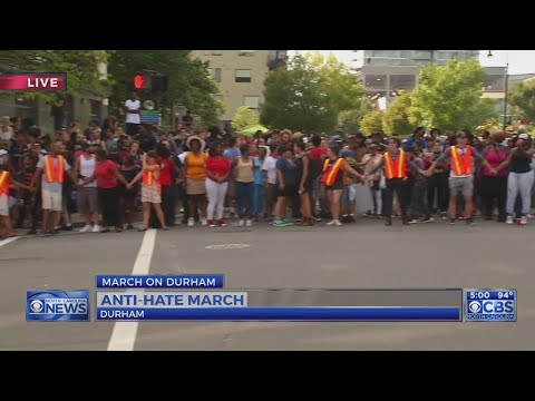 Demonstrators block downtown Durham streets
