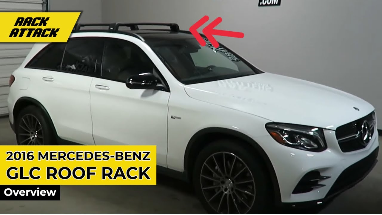 Mercedes Benz Glc With Thule Black Aeroblade Edge Roof