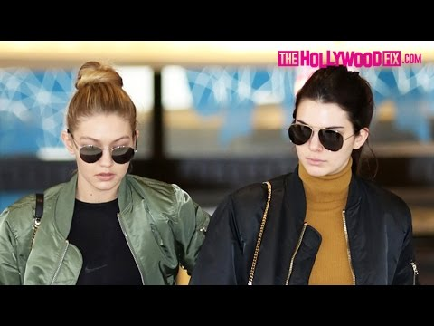 Kendall Jenner & Gigi Hadid Shop Til They Drop For Christmas Gifts In Beverly Hills 12.22.15 thumbnail