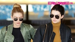 Kendall Jenner & Gigi Hadid Shop Til They Drop For Christmas Gifts In Beverly Hills 12.22.15