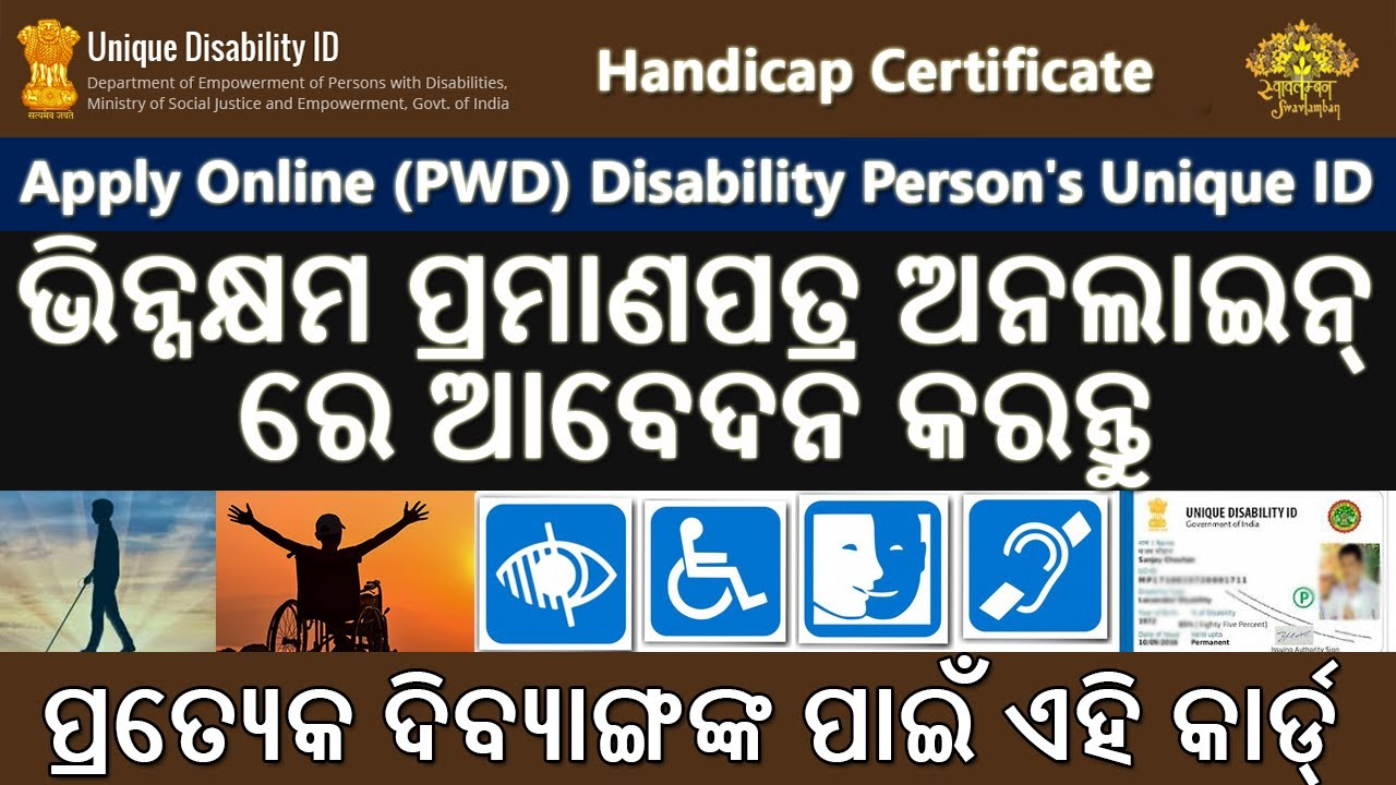 how to apply online disability certificate pwd unique id