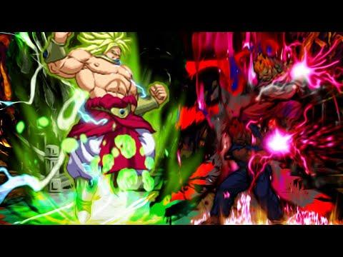 Dragon Ball Super Vs Street Fighter MUGEN Broly Vs Akuma Good Ghost & Oni Akuma