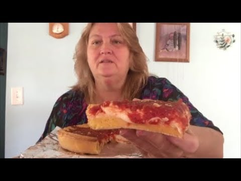 GinosEast DeepDish Pizza !! Nick and Nikki make an appearance !!!