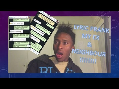 SONG LYRIC TEXT PRANK ON MY EXGIRLFRIEND The Hills The Weeknd  AND NEIGHBOUR CloserChainsmokers