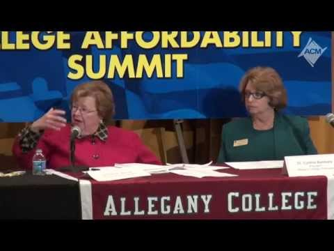 U.S. Senator Barbara A. Mikulski convenes Western Maryland College Affordability Summit
