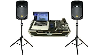 Set up of the 2,000 watt Pro Stack Sound System at Big Ten Rentals: Iowa City/Cedar Rapids, IA