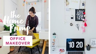 DIY Dreamy Home Office Makeover For Under $200 | Organization Hacks | The Home Primp