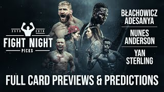 UFC 259: Blachowicz vs. Adesanya Full Card Previews & Predictions