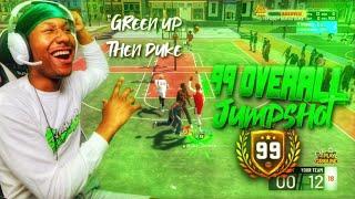 Duke Dennis 99 overall jumpshot! This is my secret jumpshot on NBA 2K19! BEST JUMPSHOT EVER 2K19!