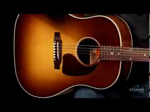 gibson limited edition j45 koa acoustic electric guitar youtube. Black Bedroom Furniture Sets. Home Design Ideas