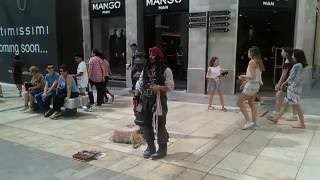 Amazing impression of Captain Jack Sparrow -  filmed by Alistair Watts