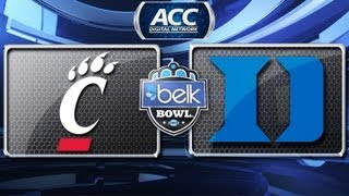 Belk Bowl: Cincinnati vs Duke Highlights 2012