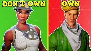 EVERY SKIN I DON'T HAVE! (Almost Every Skin In Fortnite!)