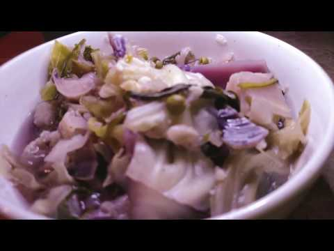 Low Calorie Cabbage and Cauliflower Soup in the Instant Pot~WFPB Vegan