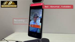 Face Recognition Panel with Body Temperature Detection