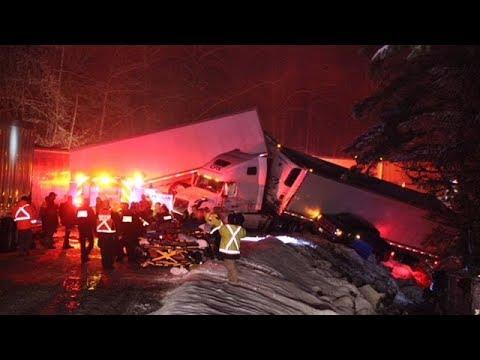 Dozens of people injured in pileup on B.C. highway