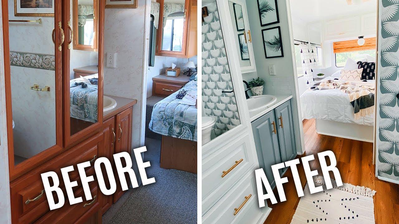 After Rv Renovation Bathroom Makeover, Trailer Bathroom Remodel