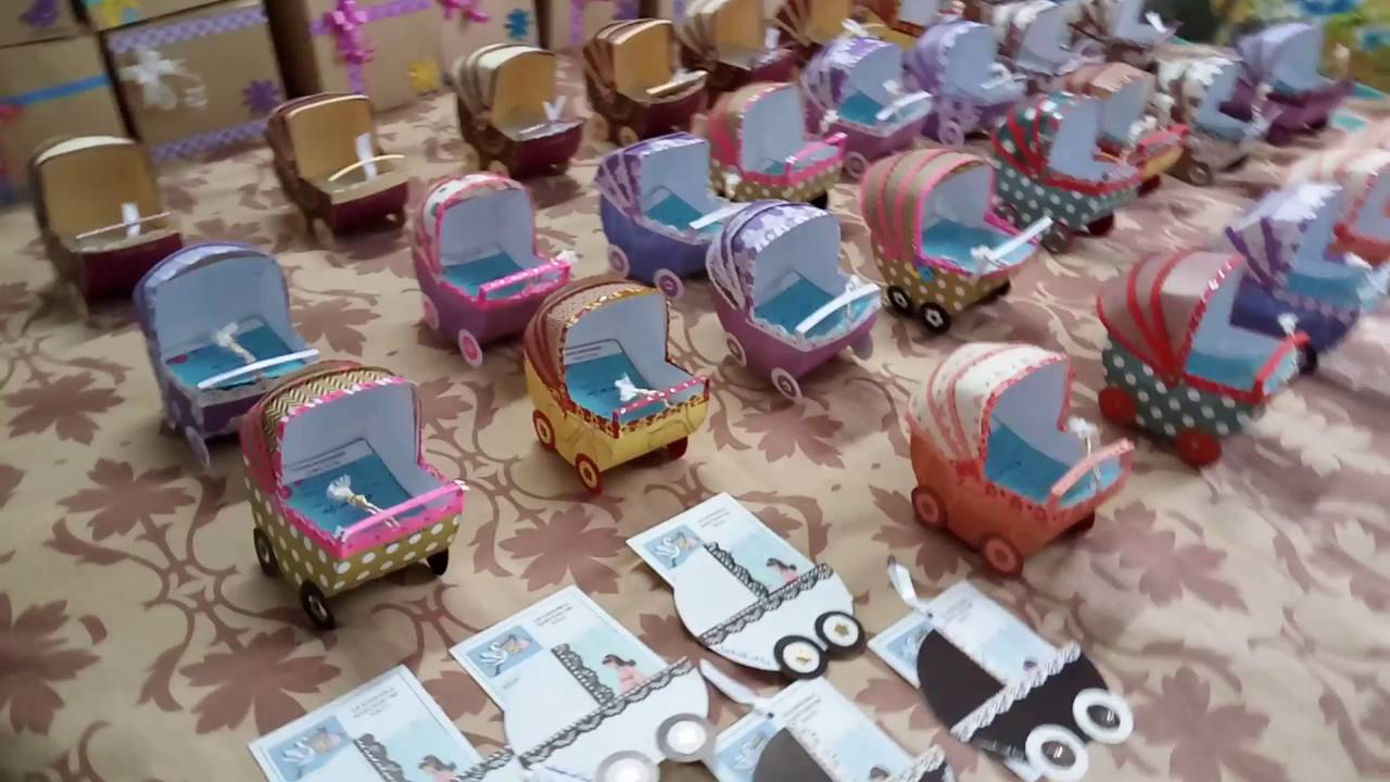A unique baby shower invitation baby carriage - YouTube