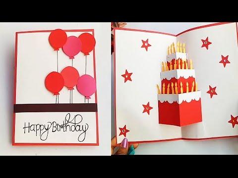 DIY cake pop up card for birthday|DIY Birthday Day Card