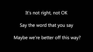 Better that we Break - Maroon 5 (LYRICS)