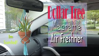Dollar Tree DIY Macrame Plant Hanger | Air Freshener!!