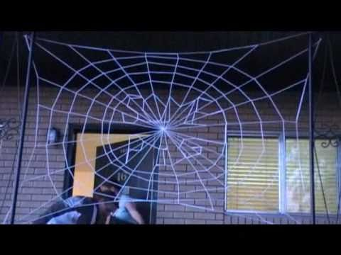 how to make a spider web out of string