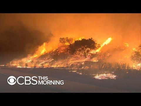 Wildfires erupt in