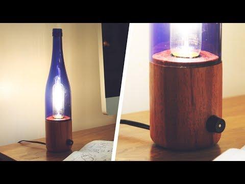 Wood & Bottle Lamp - DIY Lathe Project