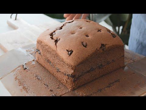 Fluffy Chocolate Castella Sponge Cake - B nh B ng Lan Castella V Socola