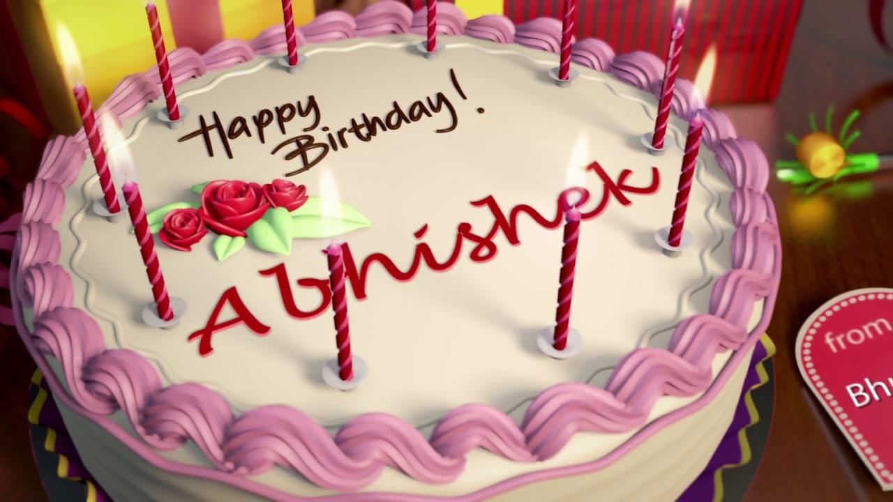 Happy Birthday Abhishek Youtube