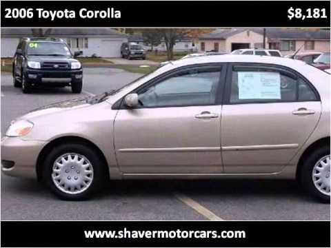 2006 toyota corolla used cars fort wayne in youtube for Shaver motors fort wayne