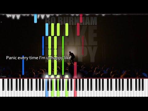 Bo Burnham // Are You Happy? | LyricWulf Piano Tutorial on Synthesia