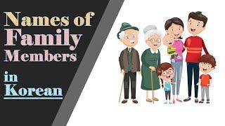 Names of Family Members in Korean 👨👩👧👦🇰🇷