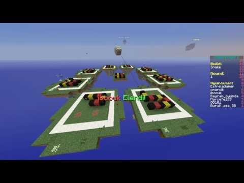 Minecraft Speed Builders Oynadık ve Bayramla VS Atık #1
