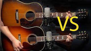 New vs Vintage Gibson Southern Jumbo: 1940's vs 2010's Acoustic Guitar Comparison