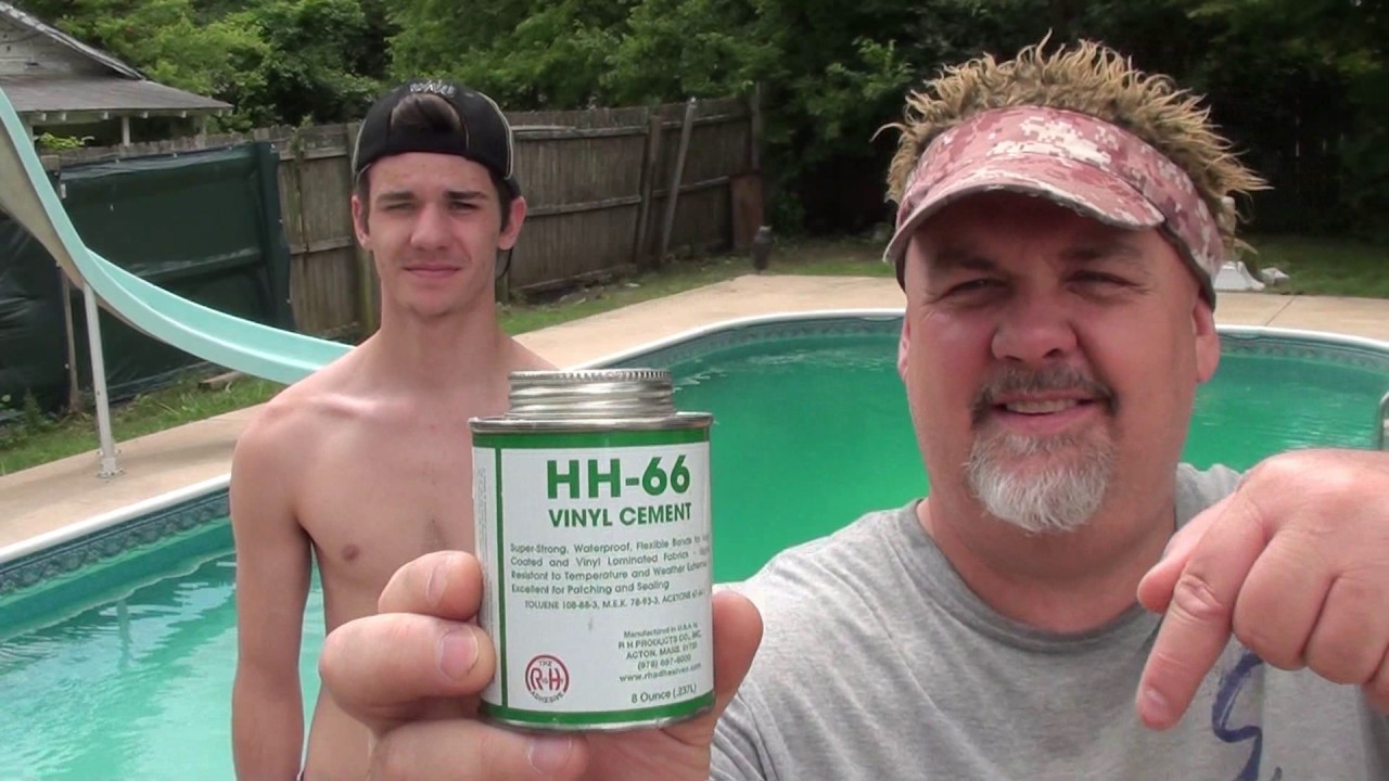 Hh 66 Repairing A Rip In The Vinyl Pool Liner 1 Year Later